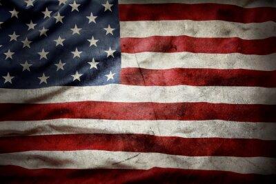 Sticker Grunge American flag