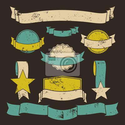 Grunge Badges und Banner-Sammlung