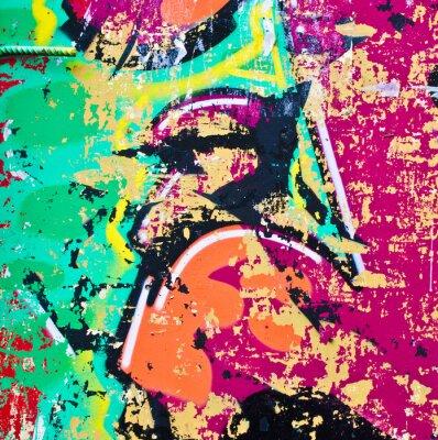 Sticker Grunge bunte Metall-Hintergrund