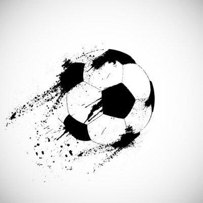 Sticker Grunge Fußball