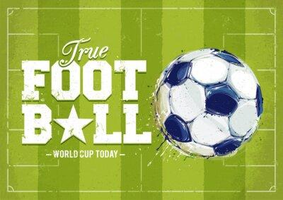 Sticker Grunge Fußball-Plakat