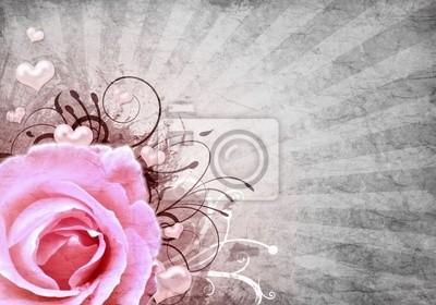 Grunge Hintergrund mit Rose