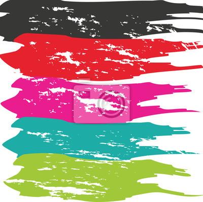 Sticker Grunge Pinselstrich. Vektor Pinselstrich. Distressed Pinselstrich. Pinselstrich. Moderne Texturierte Pinselstrich. Trockener Pinselstrich.