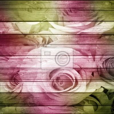 Grunge Schöne Rosen Hintergrund (1 Satz)