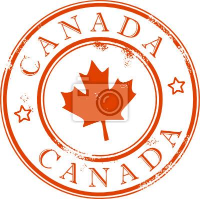 Grunge Stempel mit dem Blatt, Kanada