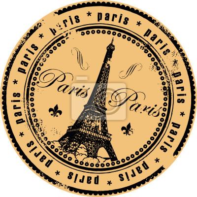 Grunge Stempel mit dem Eiffelturm Symbol