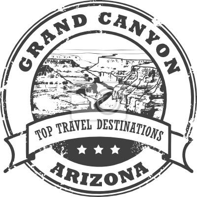 Grunge Stempel mit dem Grand Canyon