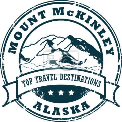 Grunge Stempel mit dem Mount McKinley