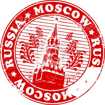Grunge Stempel mit dem Namen von Moskau