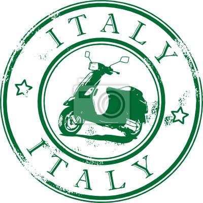 Grunge Stempel mit dem Roller, Italien