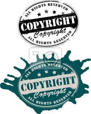 Grunge Stempel mit dem Text Copyright