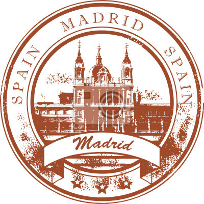 Grunge Stempel mit dem Wort Madrid, Spanien
