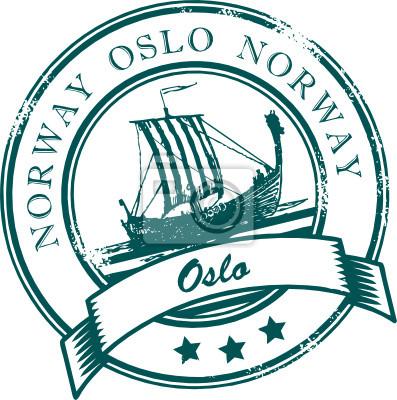 Grunge Stempel mit dem Wort Oslo, Norwegen