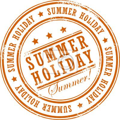 Grunge Stempel mit dem Wort Summer Holiday