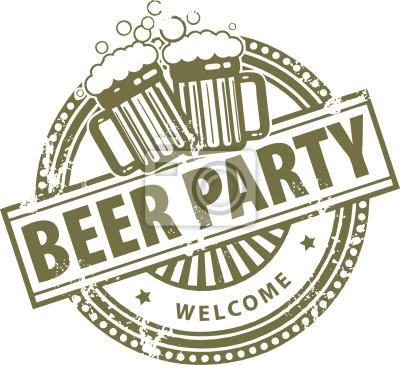 Grunge Stempel mit der Text Bierkrüge und Bier-Party