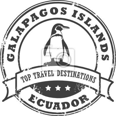 Grunge Stempel mit Galapagos-Inseln