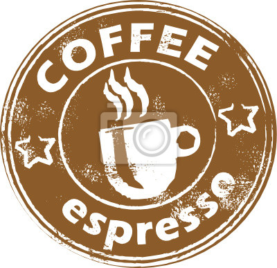 Grunge Stempel mit Kaffeetasse
