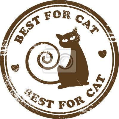 Grunge Stempel mit Katze innerhalb der Briefmarke, Vektor