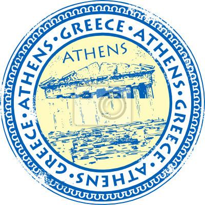 Grunge Stempel mit Namen Athens