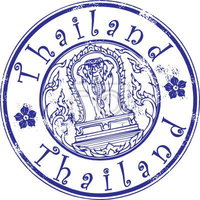 Grunge Stempel mit Thailand Symbol und das Wort Thailand