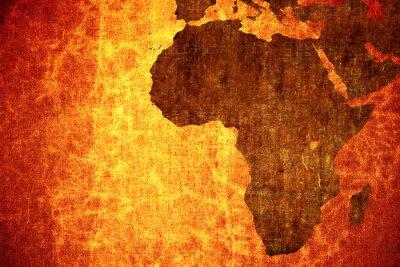 Sticker Grunge vintage scratched Africa map background.