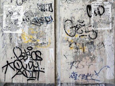 Sticker Grunge Wall Texture Background in Bangkok