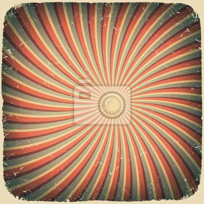 Grunge wirbeln Strahlen Retro-Hintergrund. Vektor-Illustration, eps10