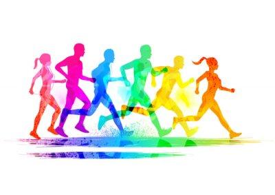 Sticker Gruppe von Läufern