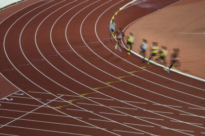 Gruppe von professionellen Athleten auf der Langstrecke bei sportlichen Wettkampf, die Vorbereitung auf Olympia-Spiel in Rio