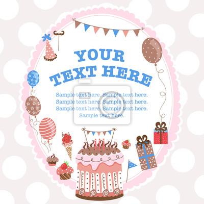 Grußkarte für Geburtstag mit einem Feld für Text