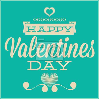 Grußkarte für Valentinstag. Blauer Hintergrund