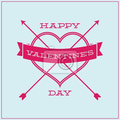 Grußkarte für Valentinstag. Einfache