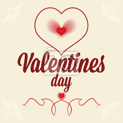 Grußkarte für Valentinstag. Herz wie Fingerabdrücke