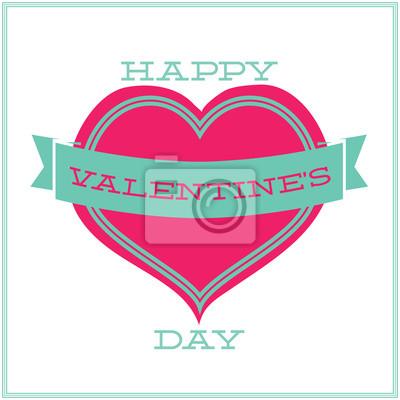 Grußkarte für Valentinstag. Minimalismus