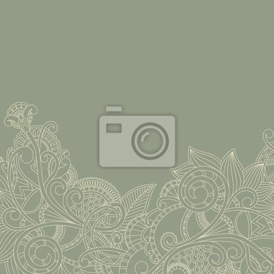 Grußkarte mit Paisley-Muster. Floral-Design