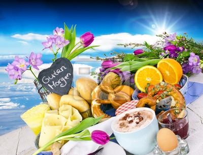 Guten Morgen Gesundes Köstliches Frühstück Zu Genießen