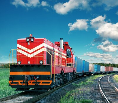Sticker Güterzug