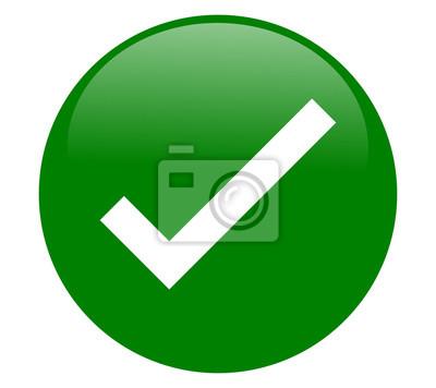 Symbol grüner haken ✔️ Check