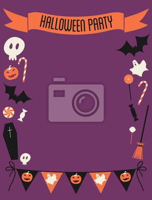 Halloween-Party-Rahmen