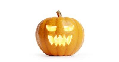 Sticker Halloween pumpkin isolated on white.