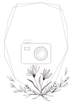 Hand Drawn Watercolor Floral Clipart, Leaves, Wreath, Brush Stroke, Texture, Geometric Frame, Floral Bouquet