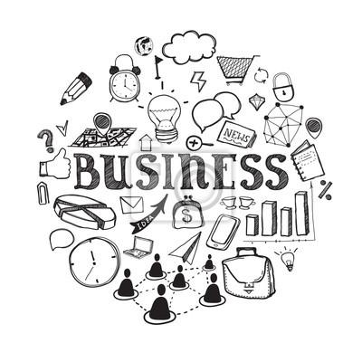 Hand gezeichnet Business Illustration