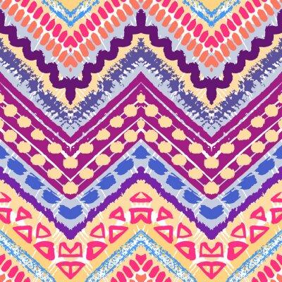 Sticker Hand gezeichnet gemalt nahtlose Muster. Illustration