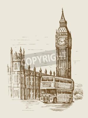 Hand gezeichnet Landschaft der Stadt London