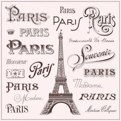 Sticker Hand gezeichnet Paris Design-Elemente