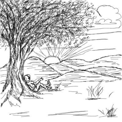 Hand gezeichnete Landschaft