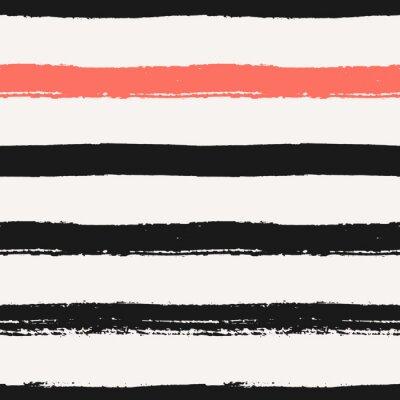 Sticker Hand gezeichnete Streifen Seamless Pattern