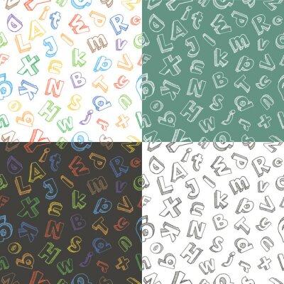 Hand gezeichneten Brief Muster