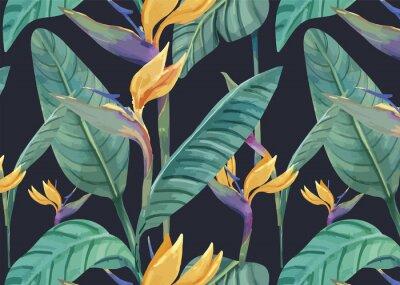 Sticker Hand gezeichneter Paradiesvogel Muster