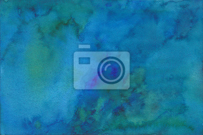 hand painted deep blue and green watercolor texture